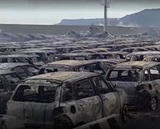 数百玛莎拉蒂被烧毁 系海水倒灌引火灾