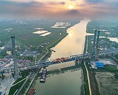 世界最大跨度无砟轨道高铁桥在皖合龙