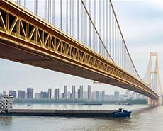 世界上跨度最大双层悬索桥正式通车