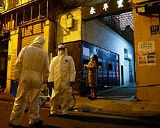 上海確診病例涉及場所嚴格落實消殺