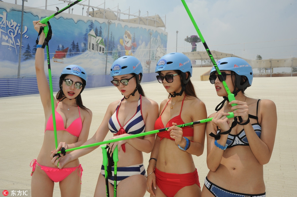 佛山滑雪场美女穿比基尼秀身材就可免费进 - 点击图片进入下一页