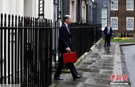 資料圖:英國財政大臣菲利普·哈蒙德。