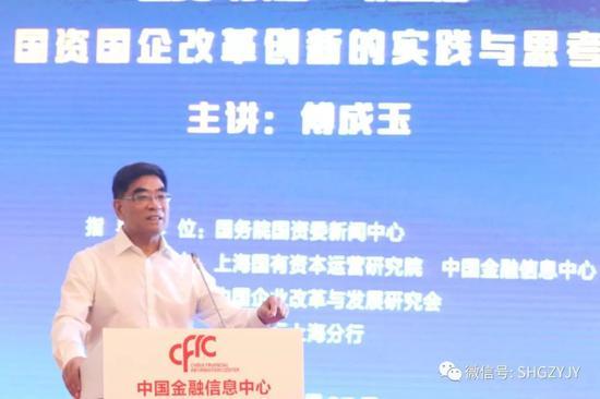 傅成玉:国有资产没有坏资产 只有没用好的资产