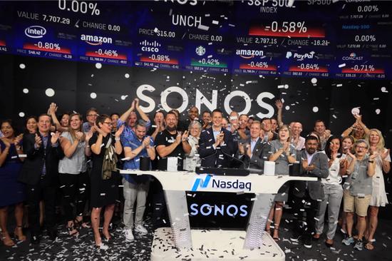 Sonos 在美国纳斯达克上市