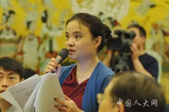 ▲红星新闻记者提问 图据人大新闻网