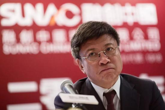 2015年,孫宏斌出席發布會   2014年融創中國營業收入同比下滑18.7%