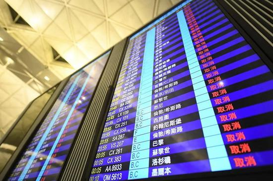 香港机场连续两日受干扰 航空业连带损失多重