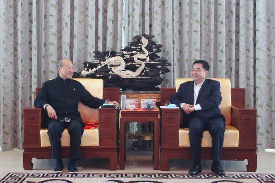 海航集团董事长陈峰会见铜川市常务副市长郝光耀
