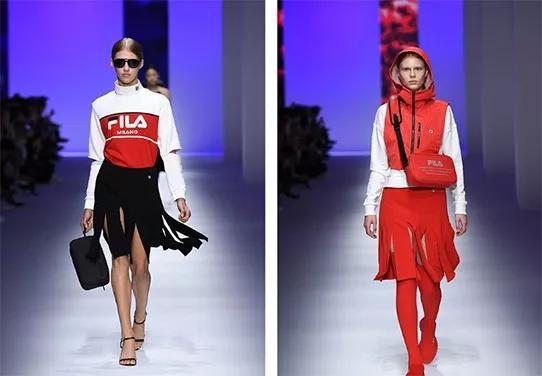 |2018年,斐乐亮相米兰时装周,定义全新高级运动时装