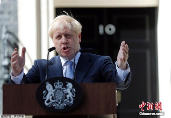 材料图片:英国辅弼约翰逊。