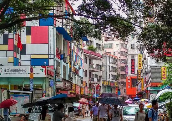 白石洲 深圳最大城中村(资料图,图片来源:视觉中国)