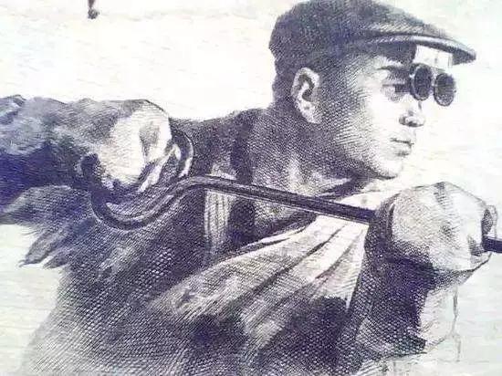 """""""炼钢工人""""素描(图片来源互联网)"""