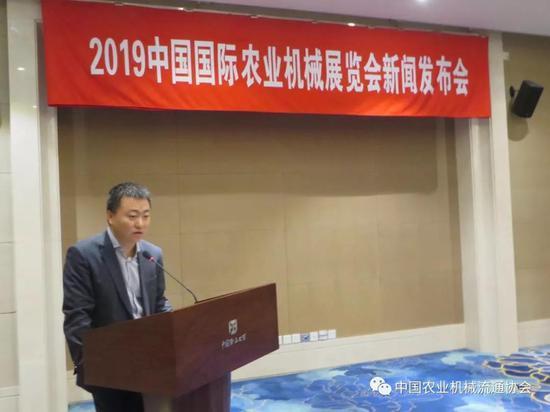 中国农业机械流通协会展览业务部主任柳松