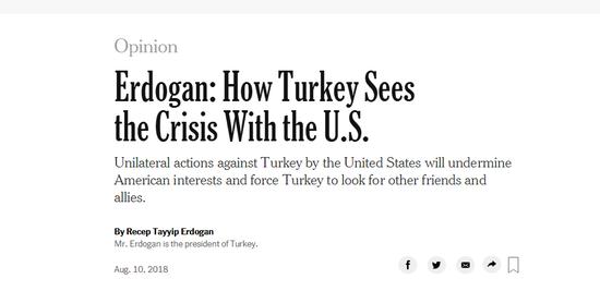 土耳其总统:单边行动只能迫使我们寻找新盟友