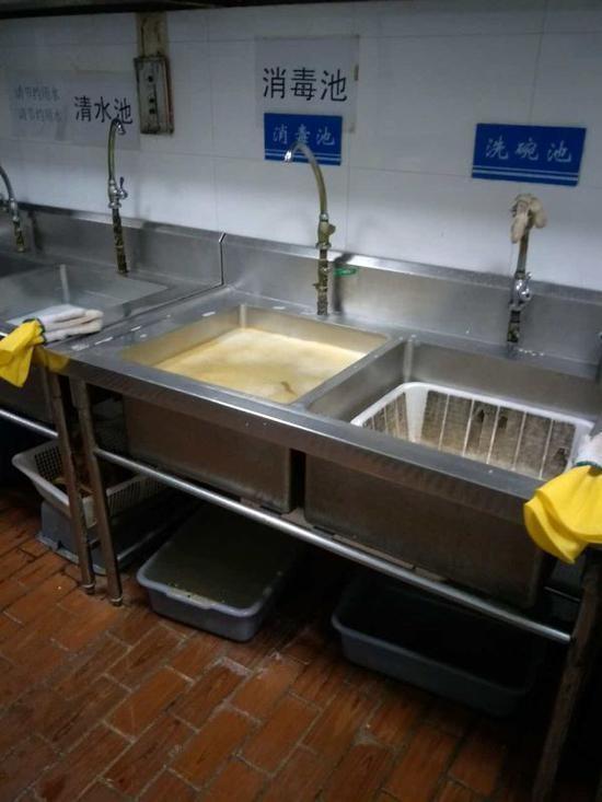 洗碗的篮子里有蟑螂