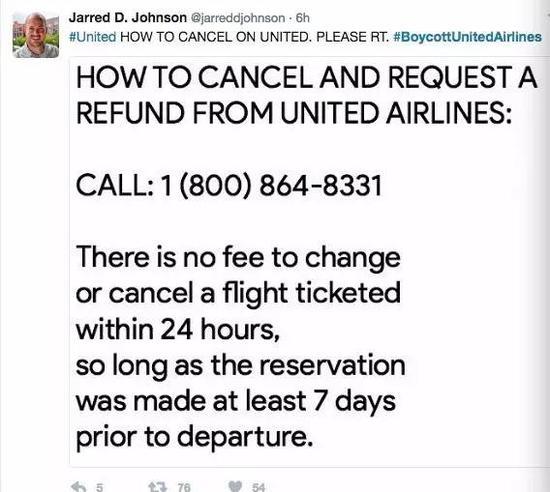 (要取消你的UA机票,请拨打800-864-8331。 如果你的飞机起飞日期在七天后,订票24小时内取消票免费)