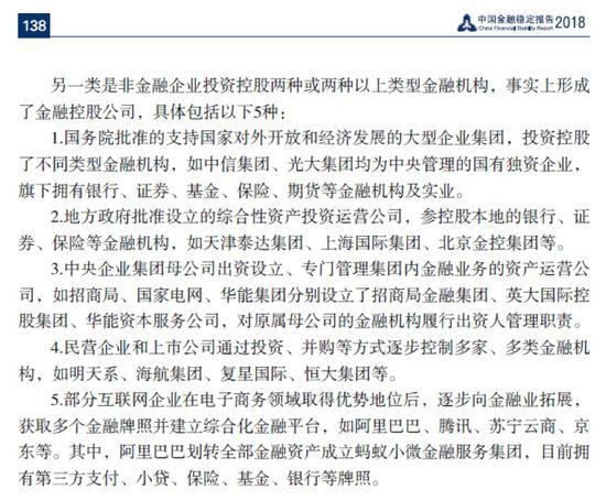 五类金融控股公司