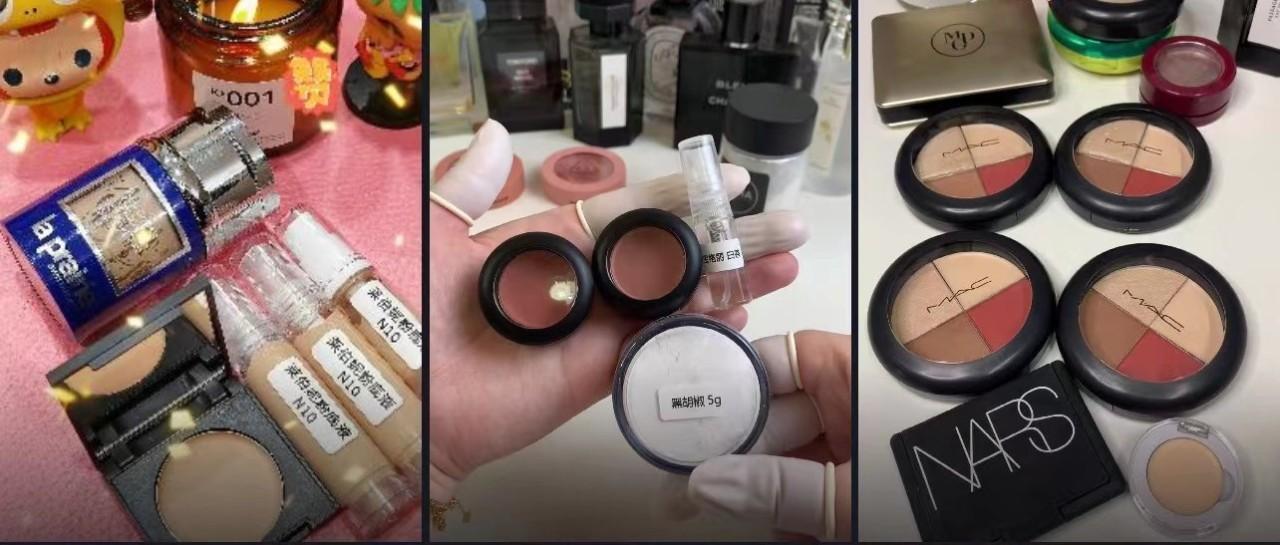 网购化妆品分装小样便宜?利润达50%,每克价格远超正装!手工操作还易污染,有烂脸风险…