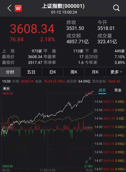 抱团股大反攻:A股狂涨突破3600点 股民高呼牛市真来了