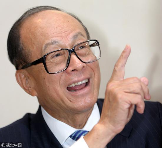 2018年3月16日,香港长和集团主席李嘉诚卸任董事会主席一职。图源:视觉中国