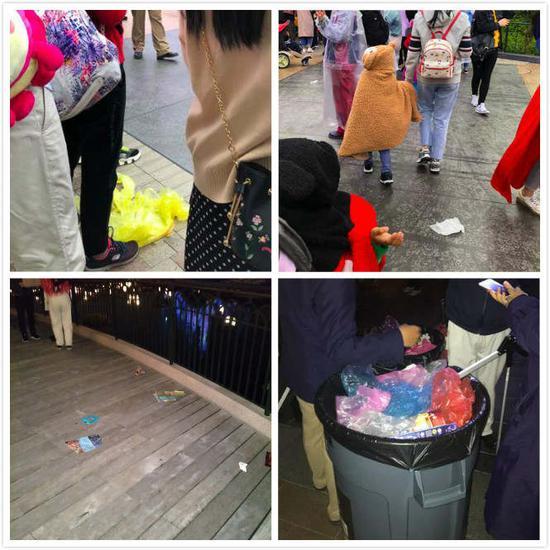 活动后集中出现的垃圾