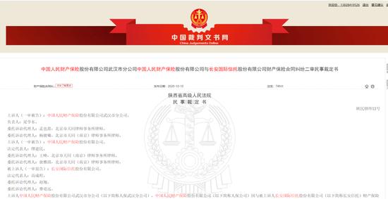 武汉金凰假黄金案又刷屏 陕西高院裁定人保赔给信托8.2亿?