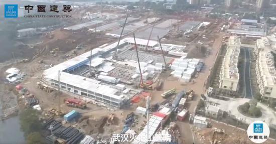 图片 火神山医院火速建成 33张图见证央企神速