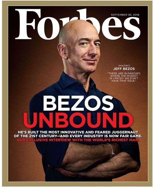 亚马逊CEO身家1514亿美元 破福布斯亿万富豪纪录