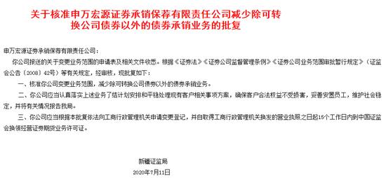 迷惑行为 申万宏源承销保荐退出债承业务