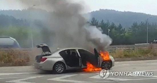 寶馬在韓銷售汽車屢現起火事故 7月以來已發生十余起