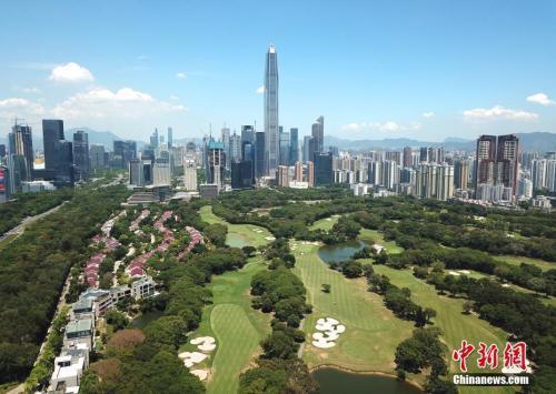 图为远眺深圳平安金融中心。中新社记者 陈文 摄