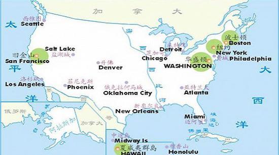 美国20个大都会区。图片来源:波特兰华人网