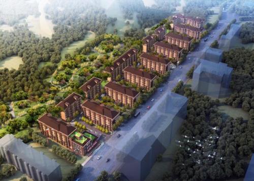 资料图:北京石景山区玉景阳光共有产权房项目鸟瞰图。来源:北京市住建委官网