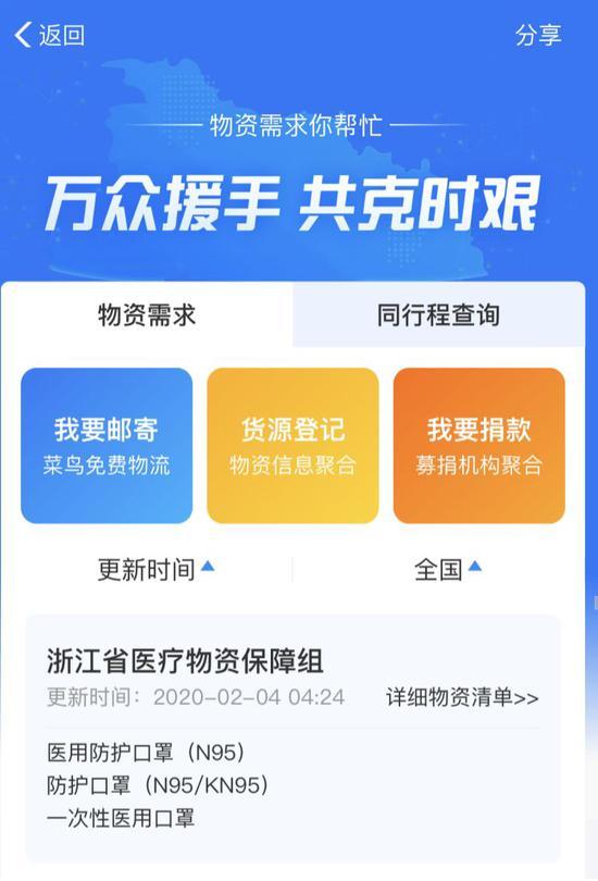 防疫物资信息服务平台