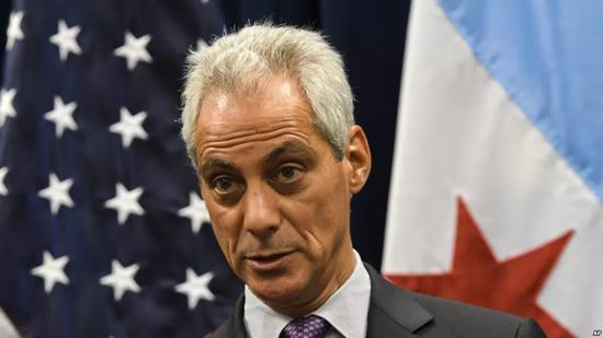 ▲芝加哥市长伊曼纽尔