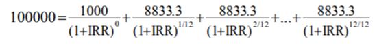 央行首次要求明示贷款年化利率 并给出IRR计算公式