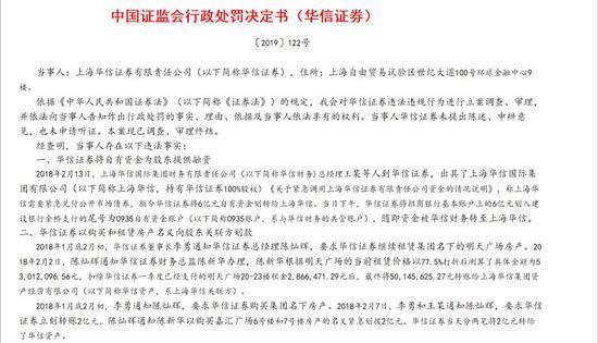 华信证券被撤销全部业务许可 多次违法为股东融资