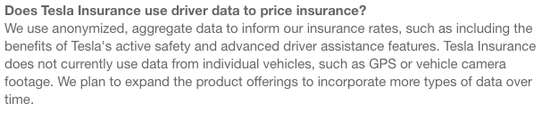 发生这种情况原因有多种,一方面特斯拉官方声称,目前保费的计算没有使用个人用户数据(未来用户可以选择是否提供个人详细数据给特斯拉以便于降低保费),而是以整体大数据的分析统计得来,所以存在一些个体偏差;另一方面,由于不同车主使用的保险公司和优惠套餐(家庭保险绑定、多辆车优惠等)不同,所以对比价格偏差较大。