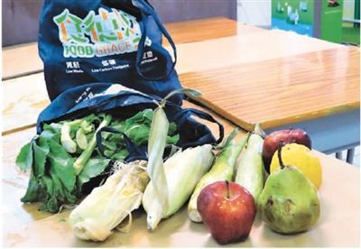 """参与""""食德好""""食物回收计划的志工从市场回收的弃置蔬果。    资料图片"""