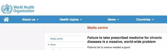 标题:慢性病人不按要求服药是一个全球性的、巨大的问题