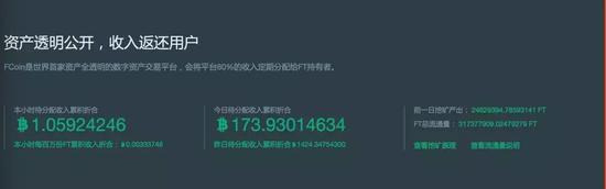 FCoin6月11日18点05分平台收入及挖矿量