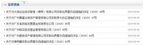5家私募违规展业被抓包 广东证监局连发6封警示函