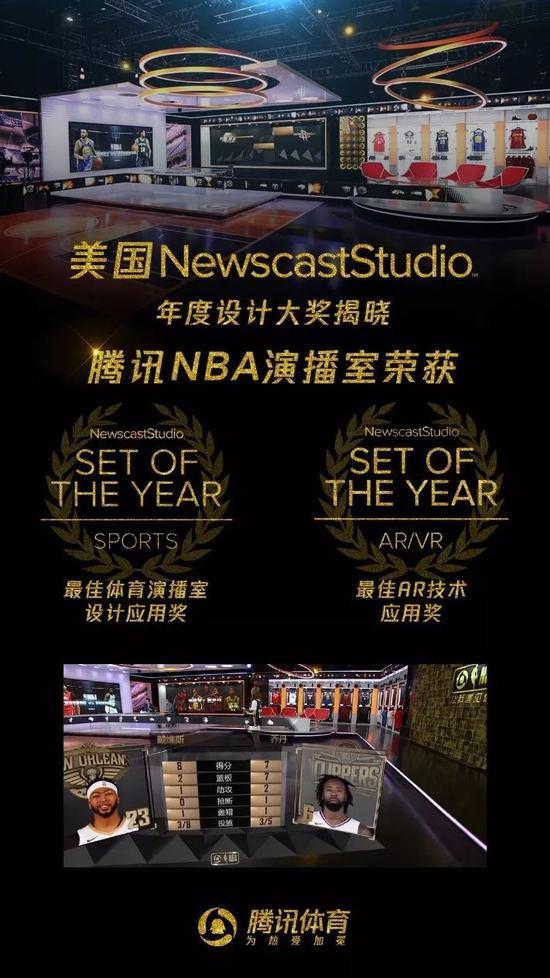 腾讯NBA演播室曾获奖