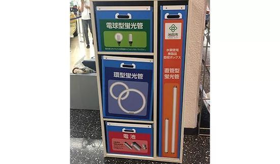  池田市政府大厅里的回收柜