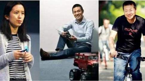 摩拜的创始团队:创始人胡玮炜(左)、CTO夏一平(中)、CEO王晓峰(右)