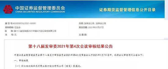 瑞丰农商行IPO获批 浙江省即将迎来首家上市农商行