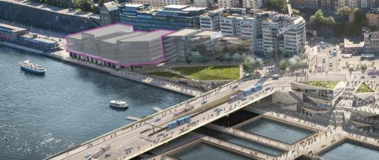 诺贝尔中心(即粉色标注处),位于斯德哥尔摩