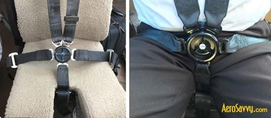 飞行员座席的安全带,A320的安全带结构也和这个类似