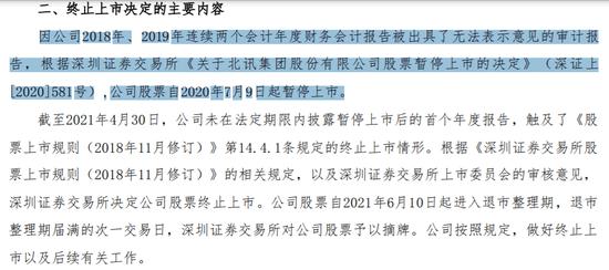 """昔日""""明星股""""*ST北讯今黯然退市:高价参与定增的股东被悉数闷杀 浮亏90%"""