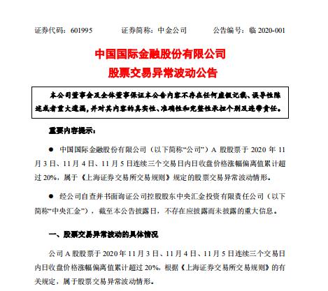 """果然""""投行贵族"""":中金连续7日大涨 最高市值已超3000亿"""
